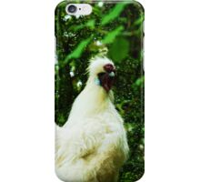 White Silkie Rooster iPhone Case/Skin