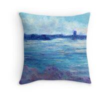 Cool Water (pastel) Throw Pillow