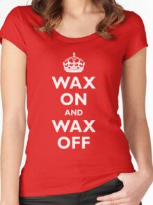 Wax On and Wax Off Women's Fitted Scoop T-Shirt
