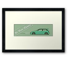 honda civic ef hatchback Framed Print