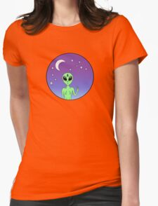 Spaceships and Chill? Womens Fitted T-Shirt