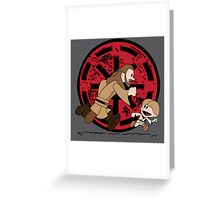 Lets Be Jedi (Qui Gon & Anakin EP1) Greeting Card