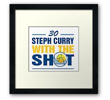 Steph Curry with the Shot #2 Framed Print
