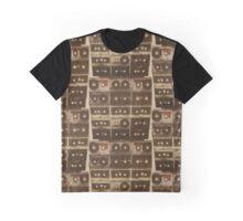 Cassettes on Canvas Graphic T-Shirt