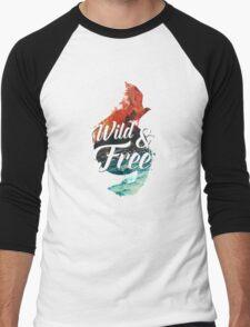 Wild & Free Men's Baseball ¾ T-Shirt