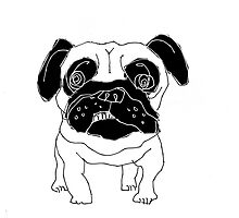pug sketch by Matt Mawson