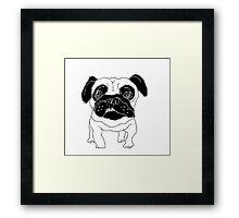 pug sketch Framed Print