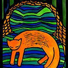Orange Cat in the Big Chair by TangerineMeg