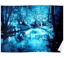 The Lazy River is Blue Poster
