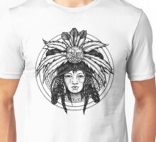 american indian girl Unisex T-Shirt