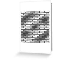 BRICK WALL-2 (Grays & White)-(9000 x 9000 px) Greeting Card