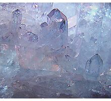 Lovely Pale Blue Crystal Photographic Print