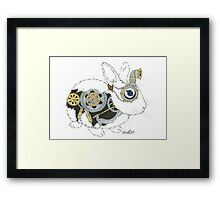 Daily Doodle 33 - Robot - Steampunk Bunny -Elvis Framed Print