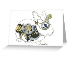 Daily Doodle 33 - Robot - Steampunk Bunny -Elvis Greeting Card