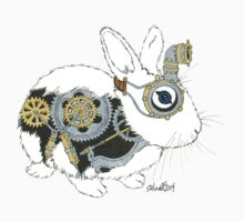 Daily Doodle 33 - Robot - Steampunk Bunny -Elvis Kids Clothes
