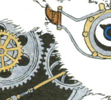 Daily Doodle 33 - Robot - Steampunk Bunny -Elvis Sticker
