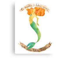 You love the sea Canvas Print