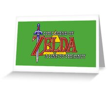 Zelda: A link to the past intro Greeting Card