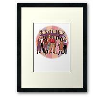 Shiny Friends Framed Print