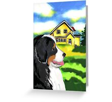 Bernese Mountain Dog With House Greeting Card