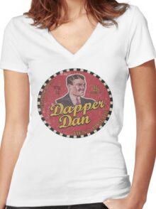 Dapper Dan Women's Fitted V-Neck T-Shirt
