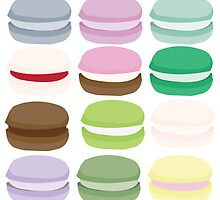 Colourful Macarons by mademarie