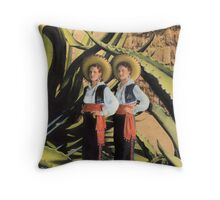 In the Garden of the Giant Agave Throw Pillow