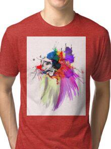 Sad Face Tri-blend T-Shirt