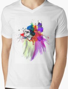 Sad Face Mens V-Neck T-Shirt