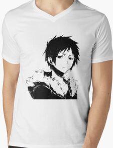 Izaya black and white Mens V-Neck T-Shirt