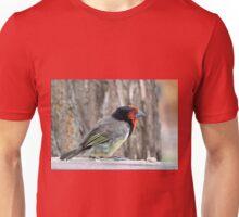 Black collared barbet Unisex T-Shirt