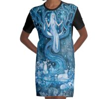 THE PRIESTESS Graphic T-Shirt Dress