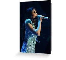 Sarah G. in Blue Greeting Card