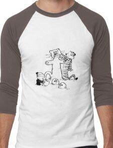 calvin and hobbes b N w Men's Baseball ¾ T-Shirt