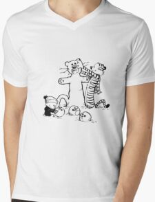 calvin and hobbes b N w Mens V-Neck T-Shirt