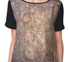 Wood - bark Chiffon Top