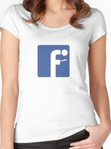 F-posture: take your eyes off your smartphone Women's Fitted Scoop T-Shirt