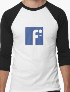 F-posture: take your eyes off your smartphone Men's Baseball ¾ T-Shirt