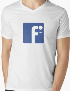 F-posture: take your eyes off your smartphone Mens V-Neck T-Shirt