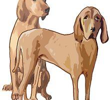Redbone Coonhounds by IowaArtist