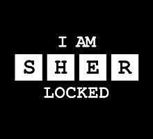 Sherlocked Throw Pillow by SamSteinDesigns