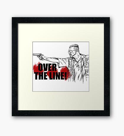 Over The Line! Framed Print