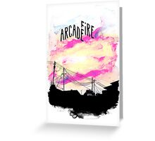 Arcade Fire T-shirt Greeting Card