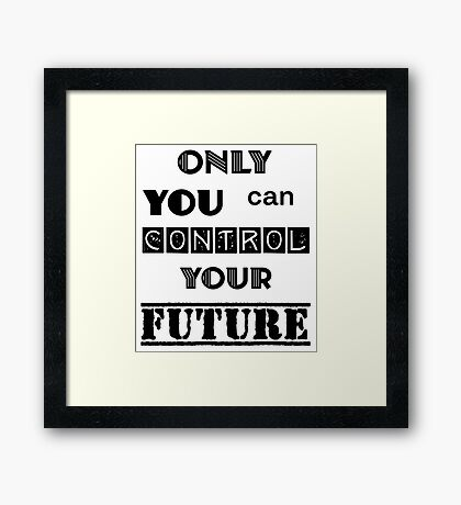 Dr. Seuss Only You Can Control Your Future Framed Print
