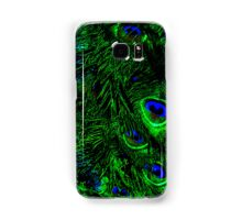 Eyes of the Peacock Feathers, Wild Bird Feathers Samsung Galaxy Case/Skin