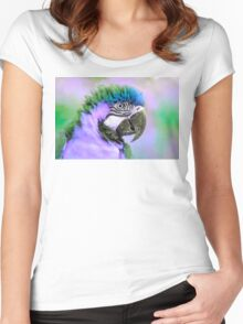 Parrot purple Women's Fitted Scoop T-Shirt