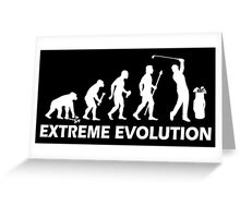 Funny Golf Extreme Evolution Greeting Card