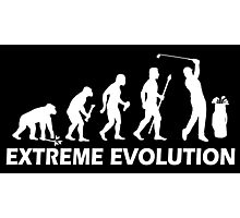 Funny Golf Extreme Evolution Photographic Print