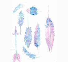 Watercolor Feathers Unisex T-Shirt