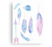 Watercolor Feathers Canvas Print